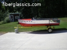 Vintage 1958 12' Crestliner Commander and trailer