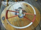 Aqua bird steering wheel
