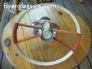 Aqua bird steering wheel