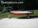 Vintage 1958 12' Crestliner Commander and trailer